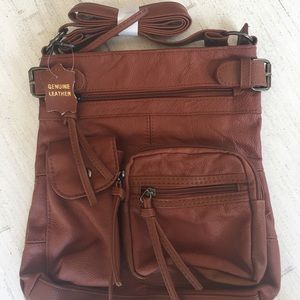 Women's genuine leather crossbody bag